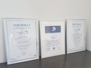 Zertifikate DIN EN ISO 9001 50001